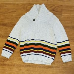 Crazy 8 Gray Striped Sweater